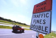 Work zone double fines