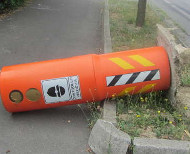 Speed camera knocked down
