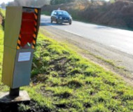 Painted speed camera