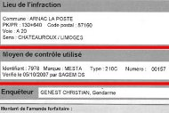 French speed camera ticket