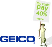 Geico logo 40 percent more