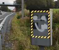 French spraypainted speed camera