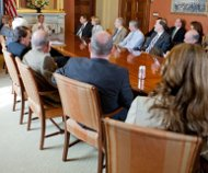 Speaker Boehner with conferees, 4/25/12