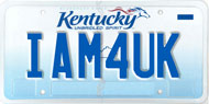 IAM4UK license plate