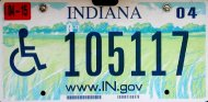 Indiana disabled plate