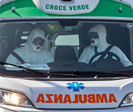 Ambulance drivers in Italy