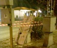 Italian speed camera attacked