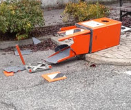 Italian speed camera smashed