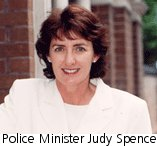Police Minister Judy Spence