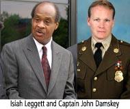 Isiah Leggett and Captain John Damskey