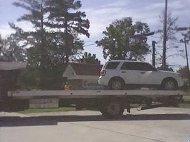 Redflex van being towed