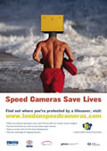 London speed camera poster