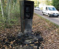 Maurepas, France camera burns
