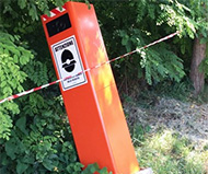Toppled Italian speed camera