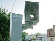 Destroyed Polish speed cam