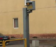 Spraypainted Polish speed camera
