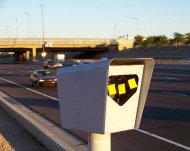 Post-It note speed camera