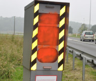 French speed camera turned red