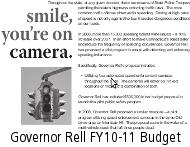 Governor Rell Budget page