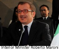 Interior Minister Roberto Maroni