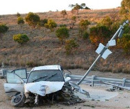 South Australia speed camera crash