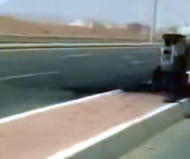 Burned Saudi speed camera