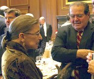 Justices Scalia and Ginsburg