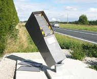 French speed camera bent