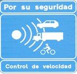 Spanish speed camera sign