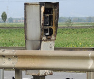 Strasbourg speed camera burned