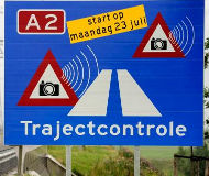 Dutch speed camera warning sign