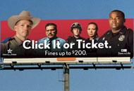 Click It or Ticket billboard