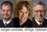 Judges Lundsten, Bridge, Dykman